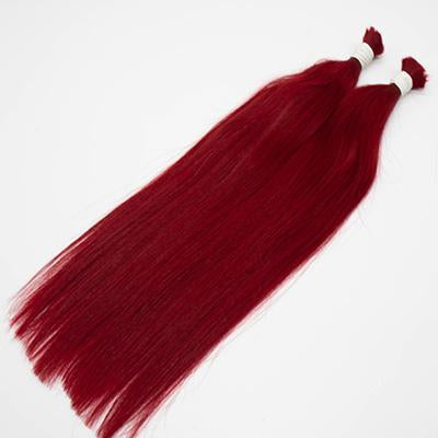 Bulk straight hair red color VS2