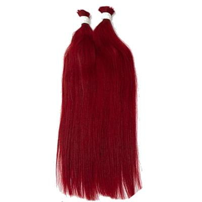 Bulk straight hair red color VS1