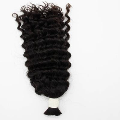 Bulk wavy black hair extensions VD1