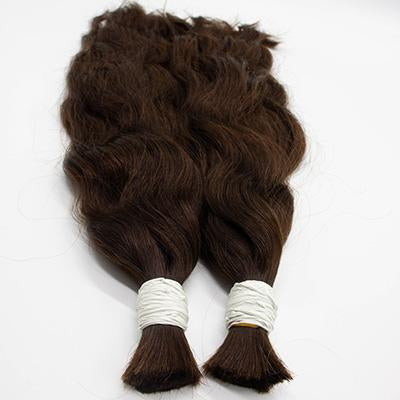 Bulk wavy dark brown hair VD1