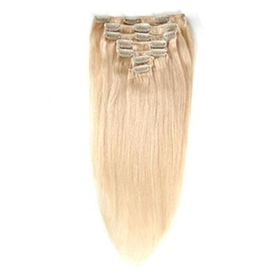 Clip in straight blonde color #14, #16