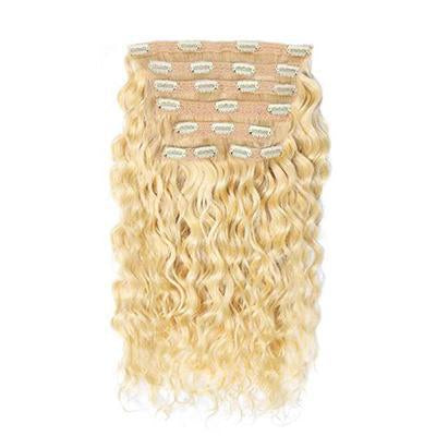 Clip in curly blonde color #60, #60C