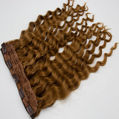 Clip in body wavy light brown