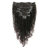Clip in curly black hair