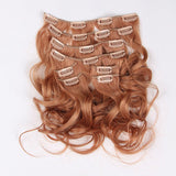 Clip in hair wavy light brown color