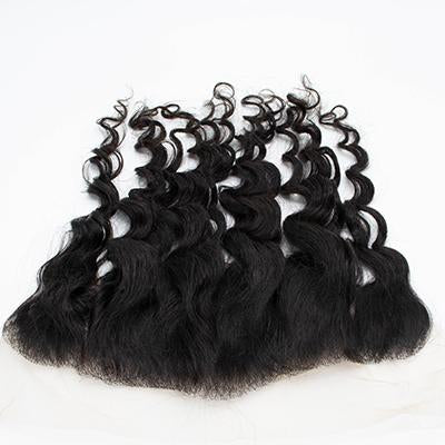 Lace frontal body wavy black hair