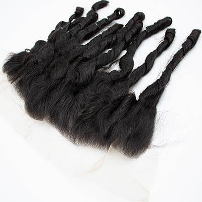 Lace frontal fumi curly black hair