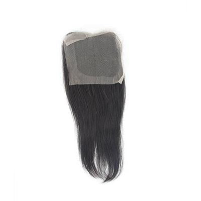 Lace closure black hair straight 4.5x5.5