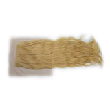 Lace closure wavy blonde hair extension 4x4