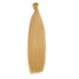 Flat tip straight blonde hair
