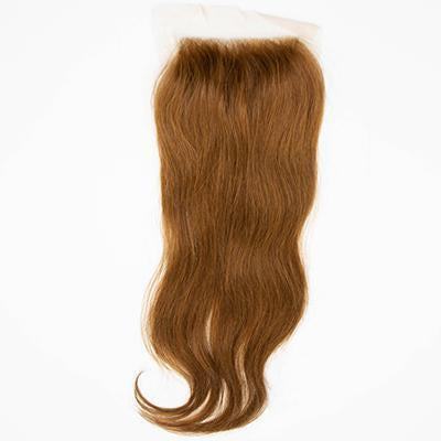 Lace closure straight light brown hair extension 4.5x5.5
