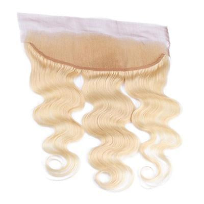 Lace frontal wavy blonde color #60, #60C