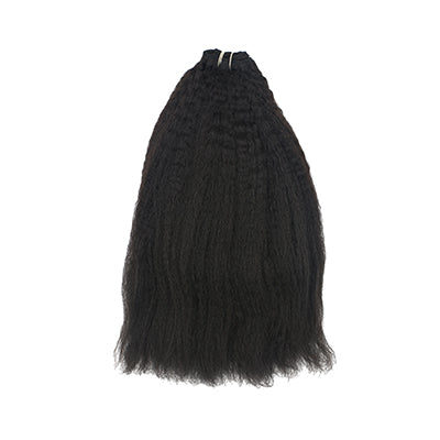 Weft kinky straight black hair VS2