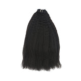Weft kinky straight black hair VD1