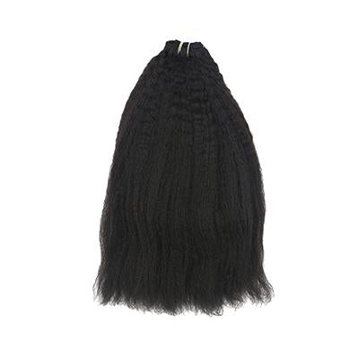 Weft kinky straight black hair VD2