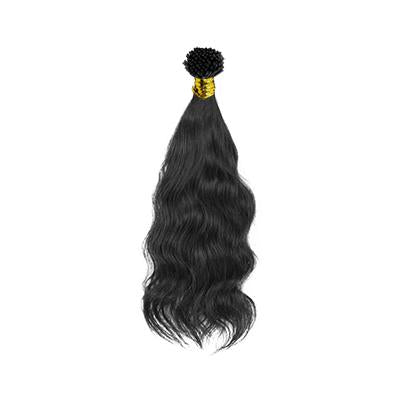 I tip natural wavy black hair