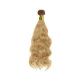 I tip natural wavy blonde hair extensions
