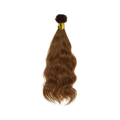 I tip natural wavy light brown hair extensions