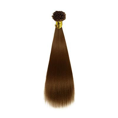 I tip Yaki straight light brown hair extensions