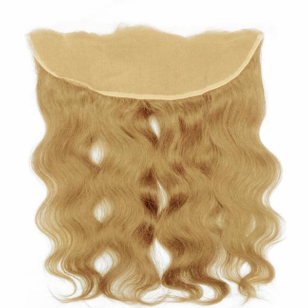 Lace frontal body wavy blonde hair