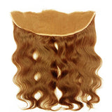 Lace frontal body wavy light brown hair