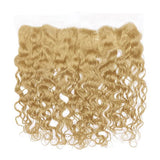 Lace frontal deep wavy blonde hair