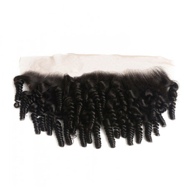 Lace frontal Kinky curly black hair