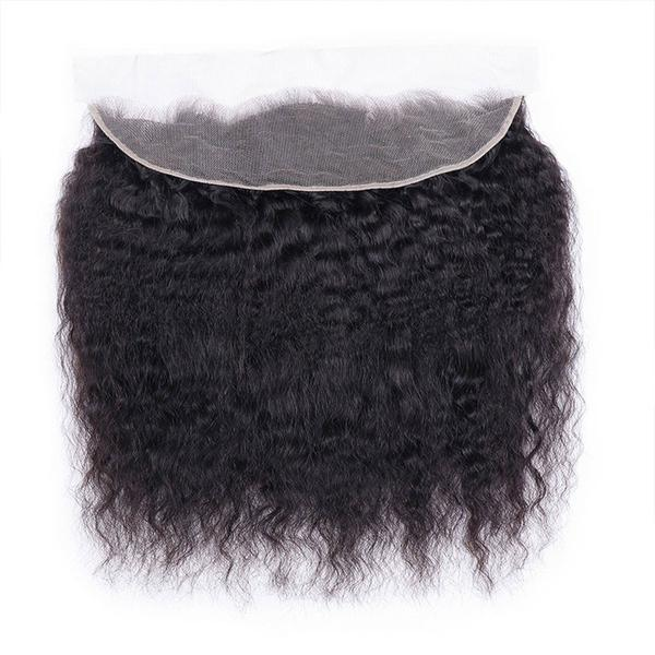 Lace frontal Kinky straight black hair