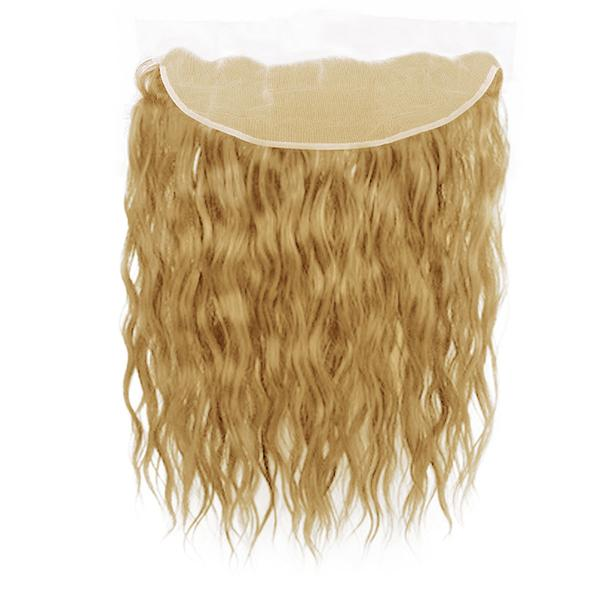 Lace frontal natural wavy blonde hair