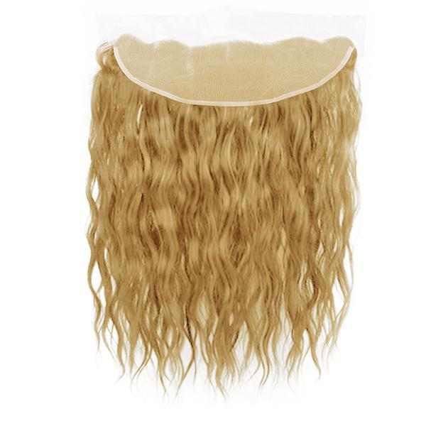 Lace frontal natural wavy blonde color #14, #16