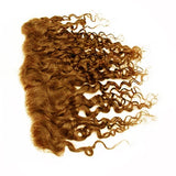 Lace frontal romantic curly light brown hair