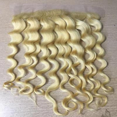 Lace frontal wavy blonde hair extensions