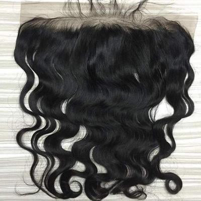 Lace frontal wavy black hair