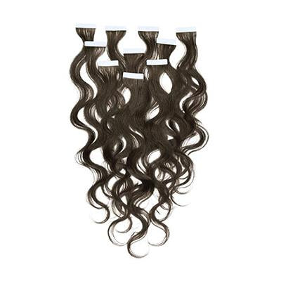 Tape wavy black hair extension