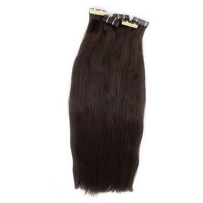 Tape straight black hair extension