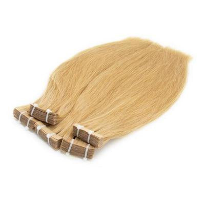 Tape in straight blonde hair