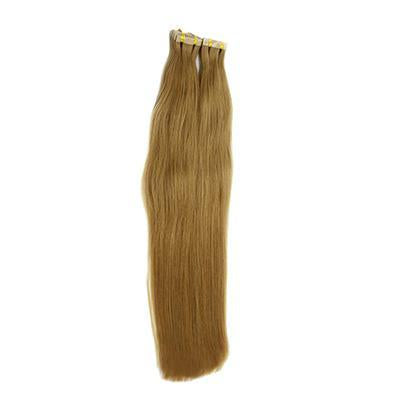 Tape straight light brown hair extension
