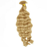 U tip body wavy blonde hair