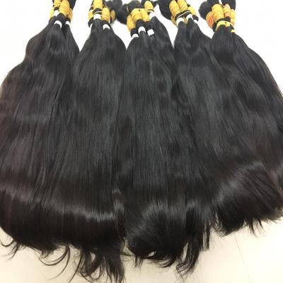 Virgin straight hair black color