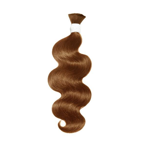 Bulk water body wavy light brown hair extension VS2
