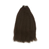 Weft kinky straight dark brown hair VD1