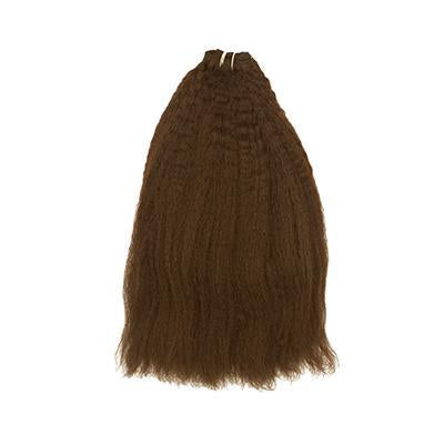 Weft kinky straight light brown hair extensions VS1