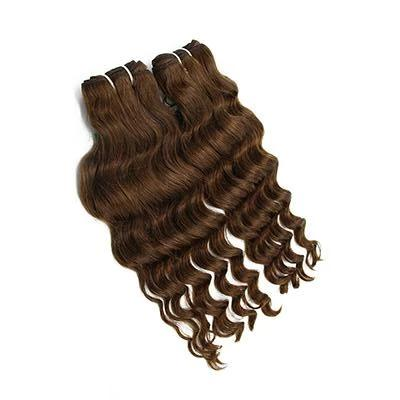 Weft body wavy dark brown hair VD2