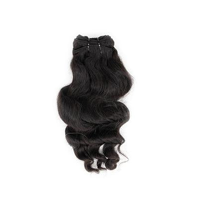 Weft body wavy black hair extensions VS1