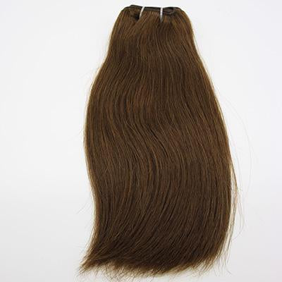Weft straight dark brown hair extensions VD1