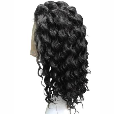 Wig body wavy black hair