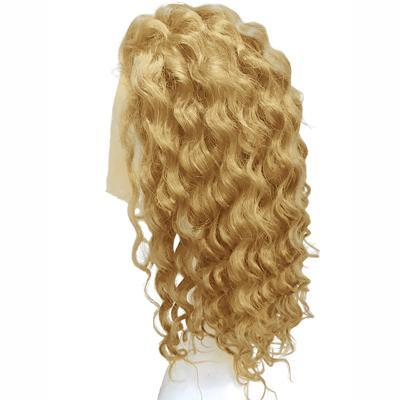 Wigs body wavy blonde hair extension