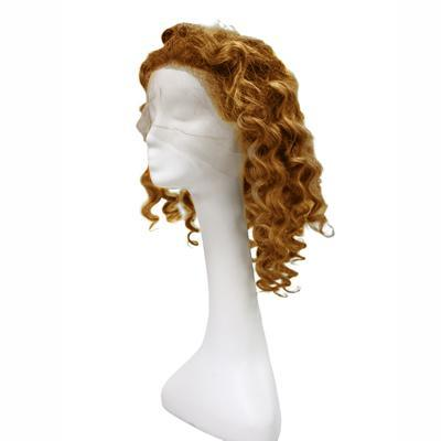 Wig body wavy light brown hair extension