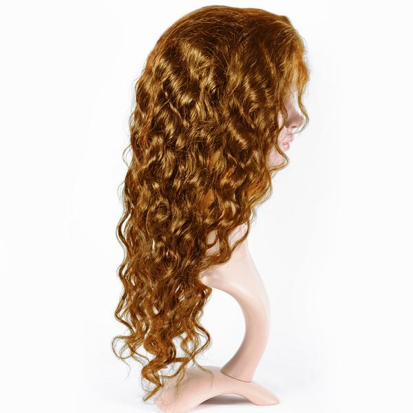 Wig wavy light brown hair extension
