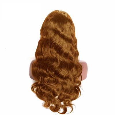 Wig natural wavy light brown hair